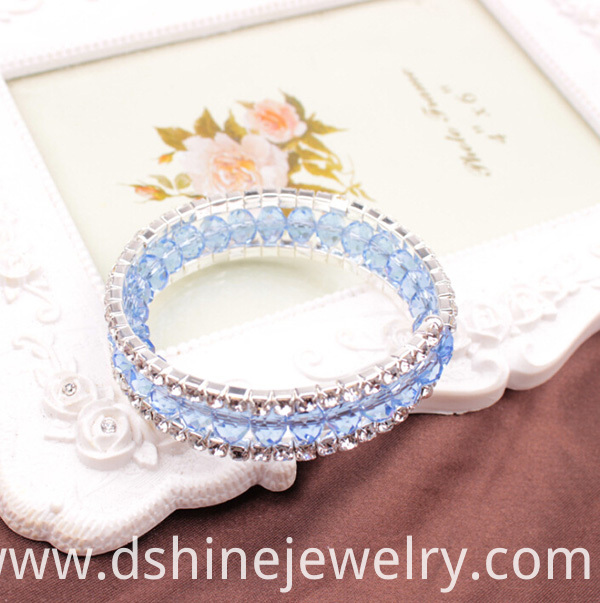 Beaded Jewelry Rhinestone Stretch Bangle