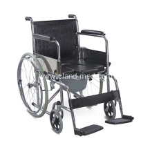 Medical Folding Commode Chair Toilet With Wheels