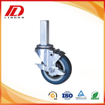 4 inch square stem industrial casters