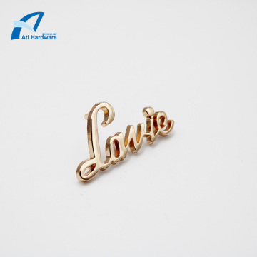 High Quality Fashion Logo Metal Decoration Handbag Label