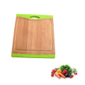 Bamboo cutting board with silicone inserted