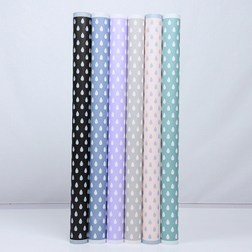Raindrop pattern flower packaging wrapping paper