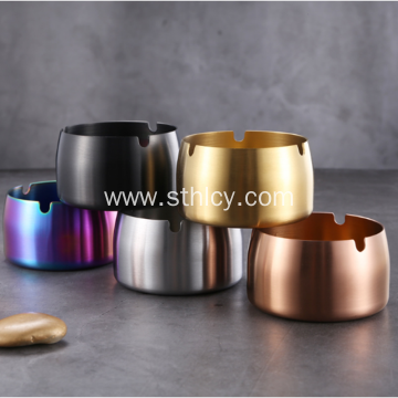Food Grade Stainless Steel Ashtray With PVD Color