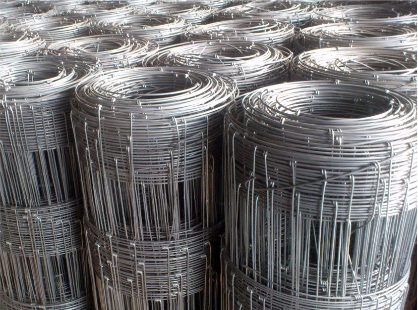 Field Fence Silver Steel Woven Wire