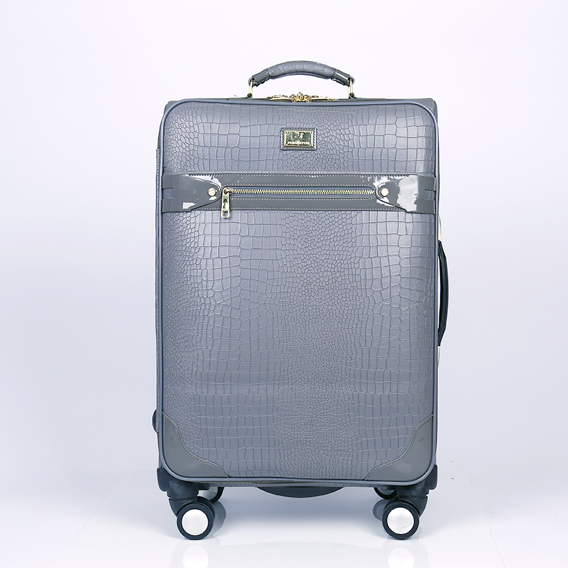 Fashion PU travel trolley luggage