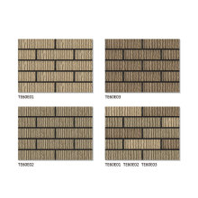 Masonry veneer thin bricks for exterior walls