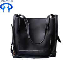 Middle-aged single shoulder bag soft skin mother bag