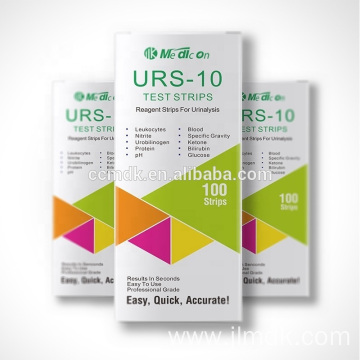 Urine Test Strips URS10 Reagent Strips For Urinalysis