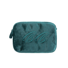 Velvet Fashion Lady Soft Cosmetic Pouches Bags
