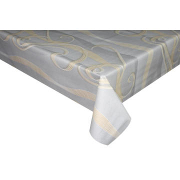 Elegant Tablecloth with Non woven backing Jacquard