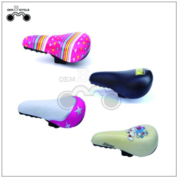 Custom pink kids bike soft thicken saddle