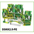 Ground Push-in DIN Rail Terminal Blocks Multi-Conductor