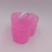 handle heart plastic jewellery storage boxes