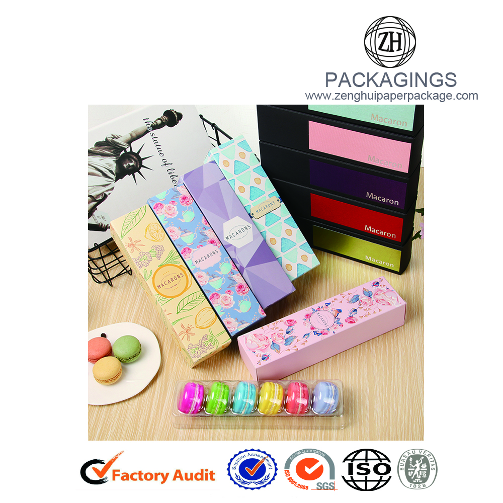 New Fancy Macarons Paper Packaging Box