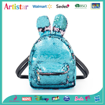 Rabbit blue sequins backpack
