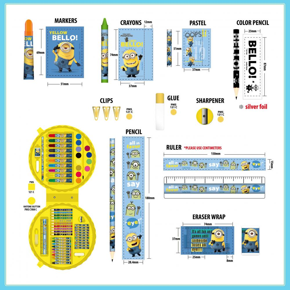 Minions 60 Pieces Art Set 2