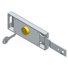 Right side roller shutter lock shifted bolt