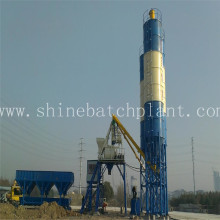 China for Mini Concrete Batching Plant 40 Small Stationary Concrete Mixing Plant supply to Tunisia Factory