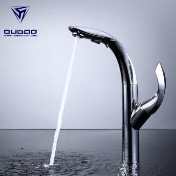 Chrome Pull Down Kitchen Faucet With Sprayer