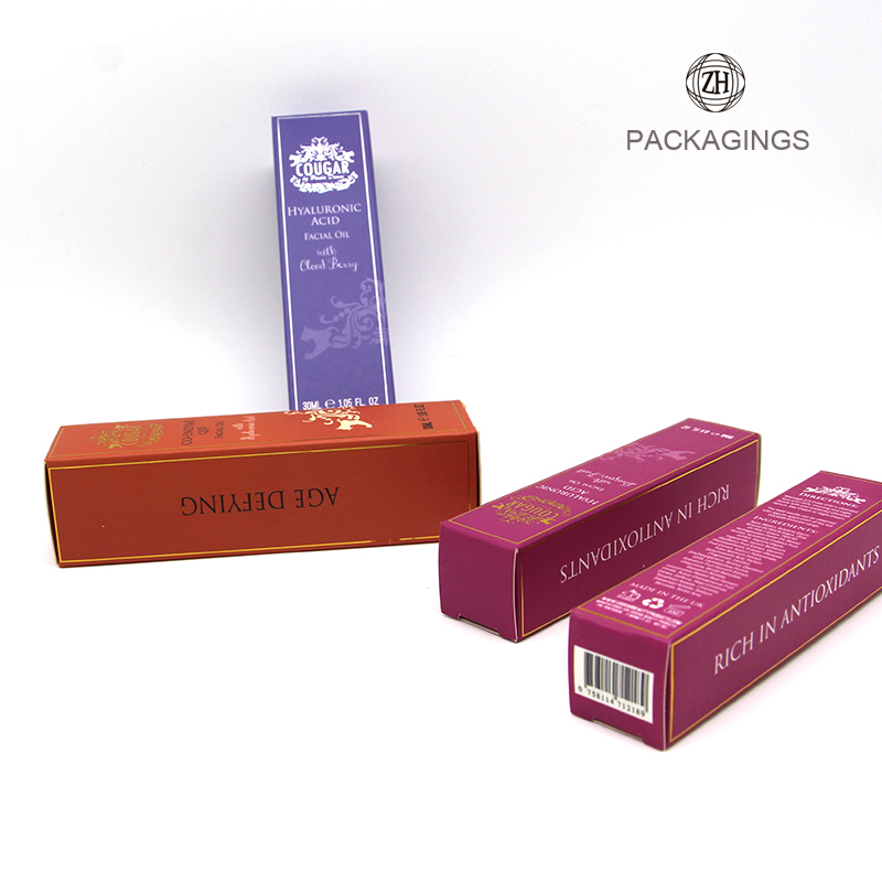 Custom cosmetic packaging with logo printing