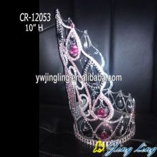 High Heel Crown Pageant Rhinestone Tiara Wedding