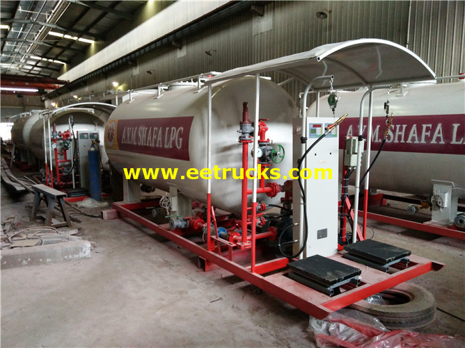 15000 Litres Mobile Skid Propane Stations