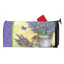 Custom magnet mailbox cover with lavender