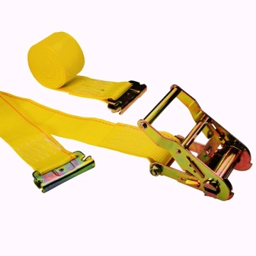 Yellow sling 2'' X 16' Ratcheting E-Track Logistic Ratchet Belt Tensioner
