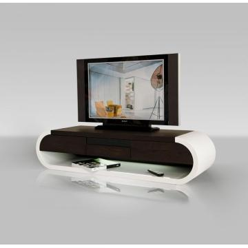 Goods high definition for for White Lacquer TV Cabinet Modern Two-Tone TV Entertainment Unit export to South Korea Supplier