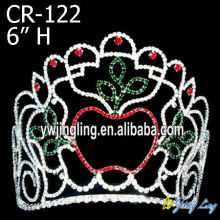 Quality for Christmas Crowns Pageant Crown apple shape supply to Mayotte Factory