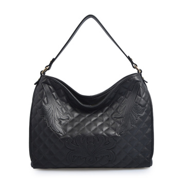 Tignanello Black Pebble Leather Shoulder Bag Large Tote