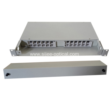 China Factories for Fiber Optic Patch Panel 24 Fibers Fixed Type Cables Optical Distribution Box export to Montserrat Manufacturer