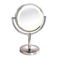 Double side magnifying tilt bathroom mirror