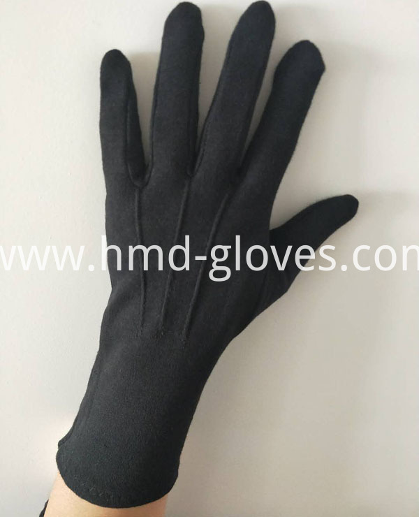 Hand Ceremonial Black Gloves