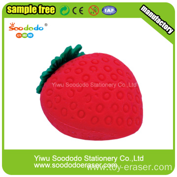 Strawberry Shaped Eraser Promotion ,mini cute eraser