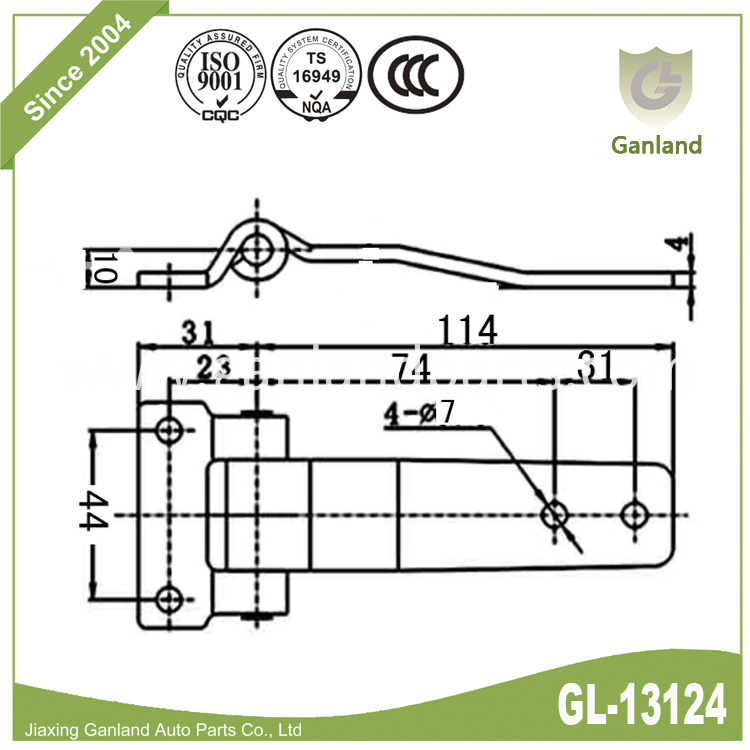 Industrial Door Hinge gl-13124