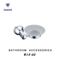 Bathroom accessories set soap dish glass holder
