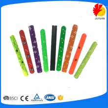 colourful reflective slap bands