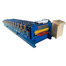 Aluminum glazed trapezoidal sheet roof tile forming machine