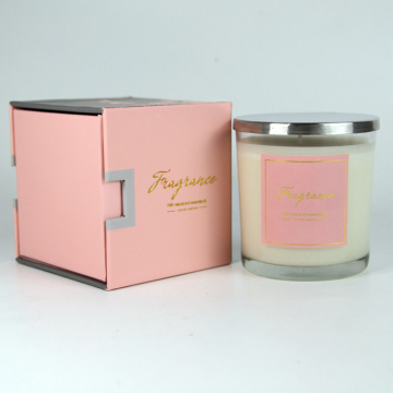 Decorative Handmade Scented Gift Candle with silver lid