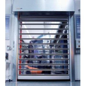 Polycarbonate Transparent Security Vertical  Shutter Door