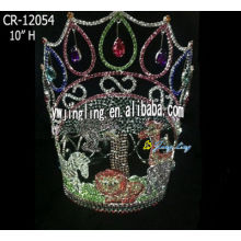 Forest Wild Animals Full Round Crown Lady