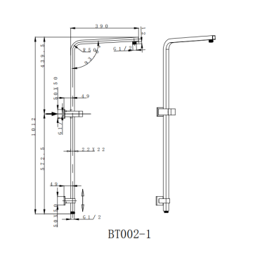 Brass Square Shower Column