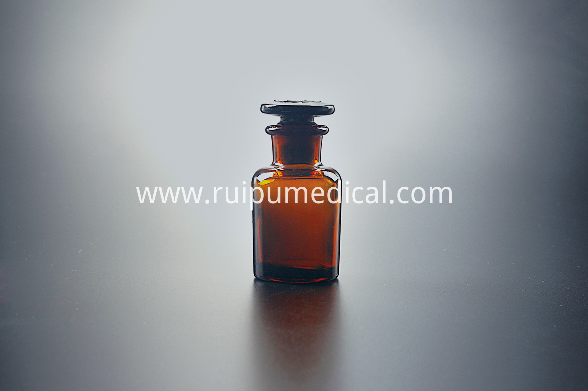 1404 Reagent Bottle Amber ,Wide Mouth ,with Ground-in GlassPlastic Stopper