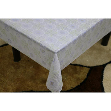 Printed pvc lace tablecloth by roll lowes