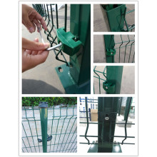China OEM for Gardon Fence Wire Mesh Fence Panel With Square Post supply to Israel Manufacturers