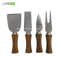 Good Price Acacia wood Cheese Knives with Block