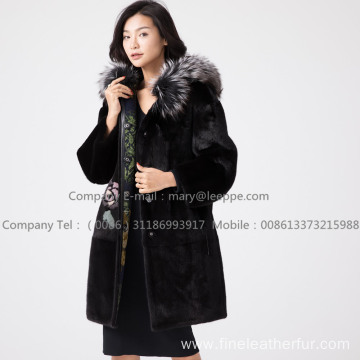 Kopenhagen Reversible Mink Fur Hooded Coat lady