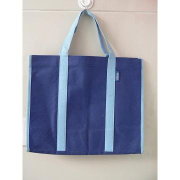 Deep blue stitched non woven shopping bag