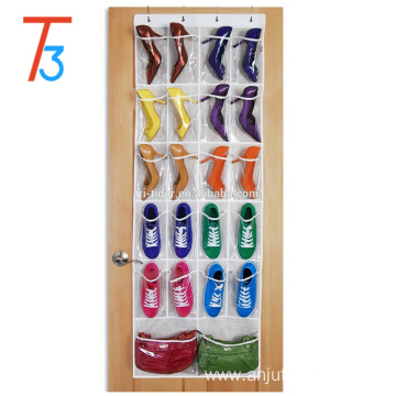 Space-saving 22 Pocket Hanging Over Door Shoe Organizer